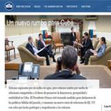 Casa Blanca crea página web en español dedicada a Cuba