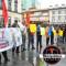 Transportistas de Coseleacaque se manifiestan en Plaza Lerdo