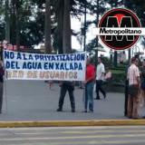 Protesta LAVIDA contra la privatización del agua