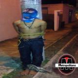 Habitantes de fraccionamiento de Veracruz golpean y detienen a presunto asaltante