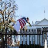 Brincan a los jardines de la Casa Blanca cuando Obama celebraba Acción de Gracias