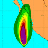 Huracán Sandra se degrada a categoría 3