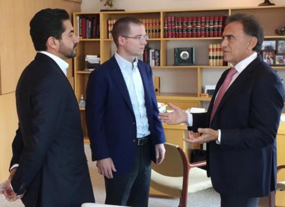 Asistí invitado por Ricardo Anaya a la sesión de la Comisión Permanente del PAN donde se analizó la situación general del país: Gobernador Yunes